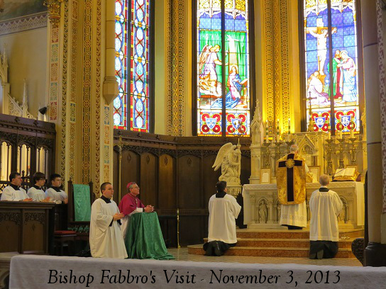 Bishop Fabbro at Mass