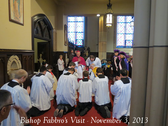 Bishop Fabbro Blesses Altar Servers