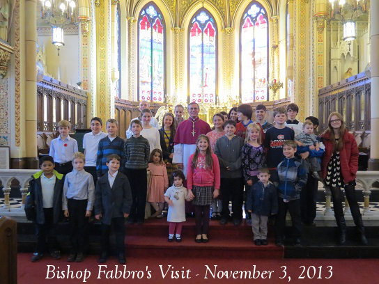Bishop Fabbro with Children
