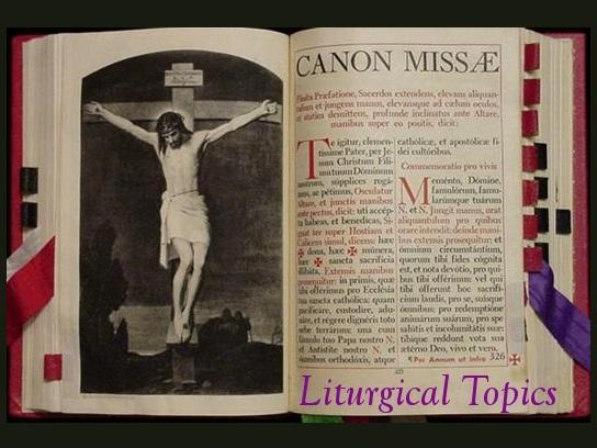Liturgical Topics